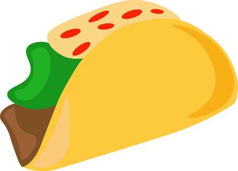 Tacos, illustration, vector on white background.