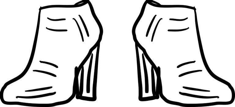 Womans boots, illustration, vector on white background.