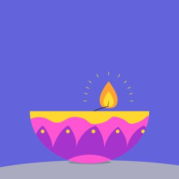 Aroma candle, illustration, vector on white background.