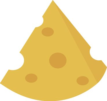 Cheese, illustration, vector on white background.