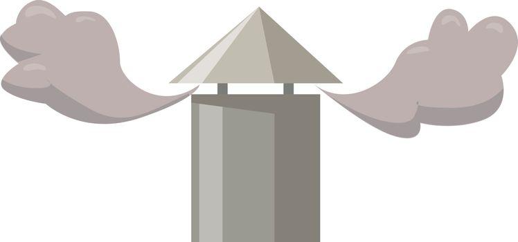 Chimney, illustration, vector on white background.
