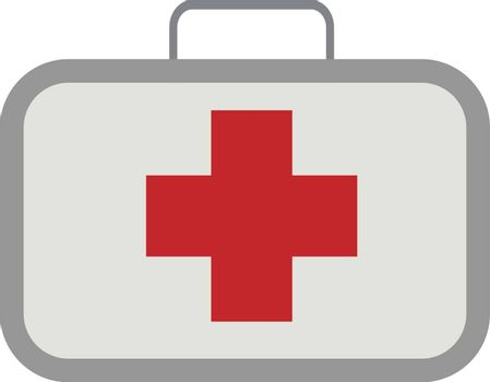 First aid, illustration, vector on white background.