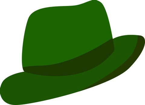 Green hat, illustration, vector on white background.