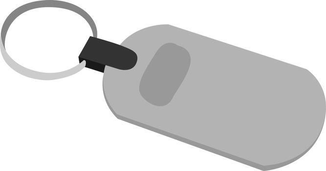 Keychain, illustration, vector on white background.