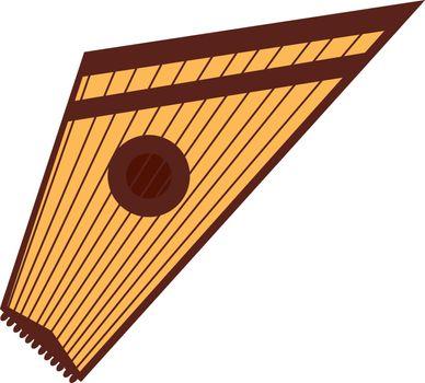 Gusli, illustration, vector on white background.