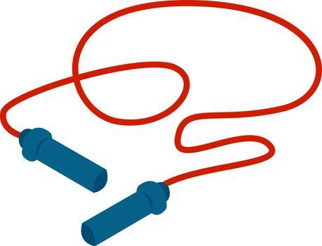 Jump rope, illustration, vector on white background.