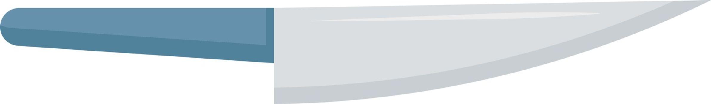 Knife, illustration, vector on white background.