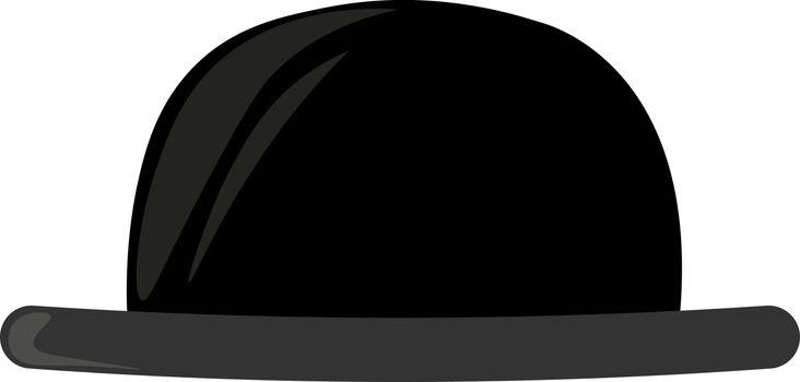 Black hat, illustration, vector on white background.