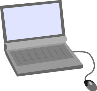 Lap top, illustration, vector on white background.