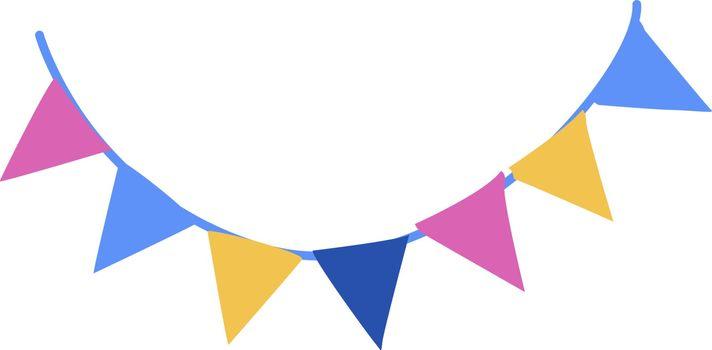 Ribbons, illustration, vector on white background.