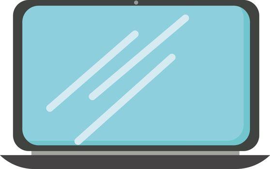 Notebook, illustration, vector on white background.