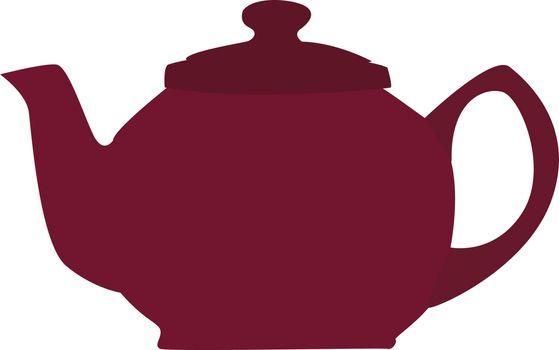 Purple teapot, illustration, vector on white background.