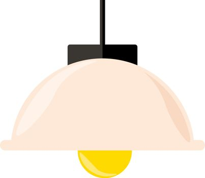 Pink lampshade, illustration, vector on white background.