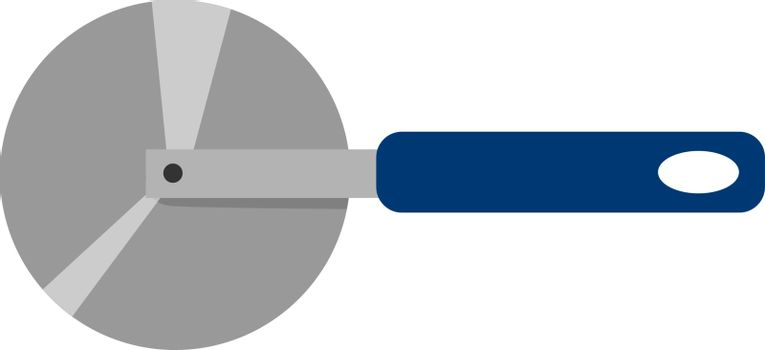 Round knife, illustration, vector on white background.