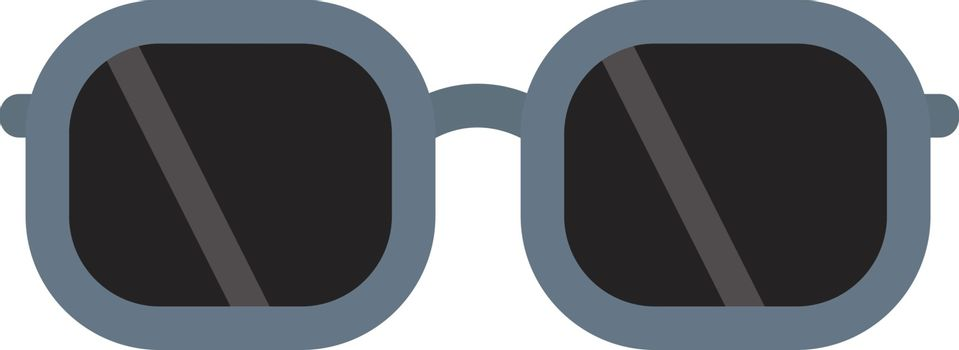 Sunglasses, illustration, vector on white background.
