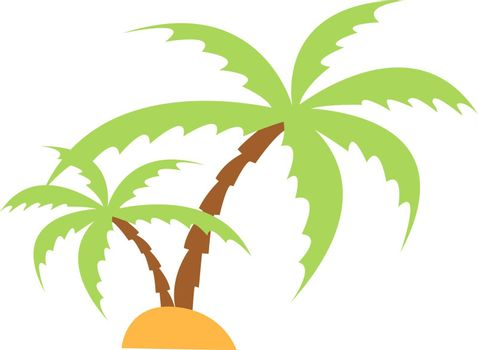 Palm trees, illustration, vector on white background.