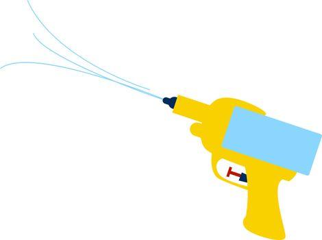 Water gun, illustration, vector on white background.