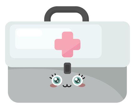 Aid Kit , illustration, vector on white background