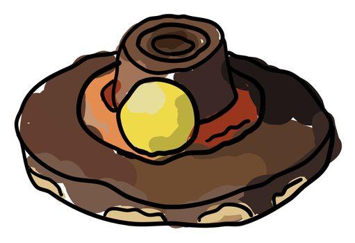 Pilgrim Cookie Hats, illustration, vector on white background