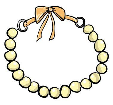 Bead bracelet , illustration, vector on white background