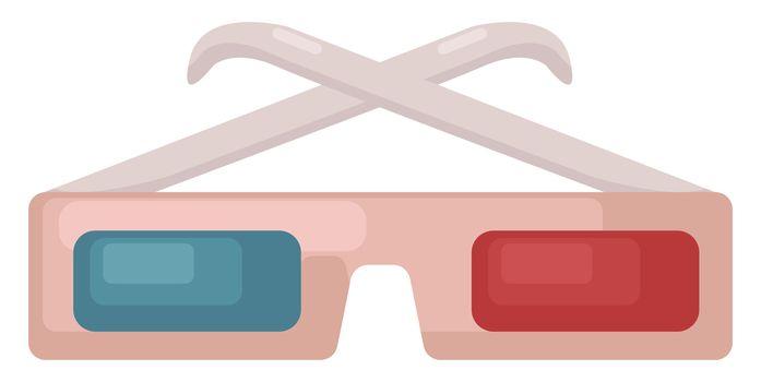 3D glasses , illustration, vector on white background