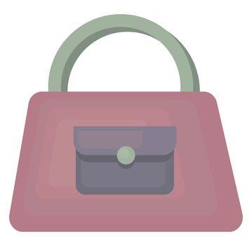 Purple woman bag , illustration, vector on white background