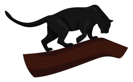 Black panther , illustration, vector on white background