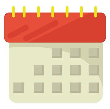 Calendar , illustration, vector on white background