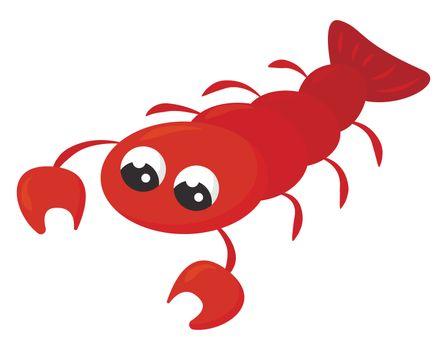 Red cancer , illustration, vector on white background
