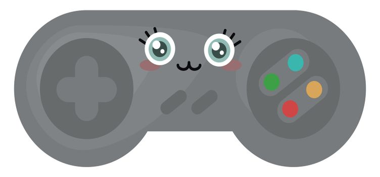 Cute gamepad , illustration, vector on white background