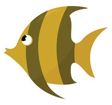 Golden fish , illustration, vector on white background