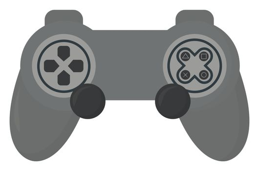 Game controler , illustration, vector on white background