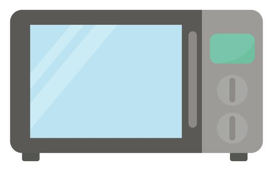 Microwave , illustration, vector on white background