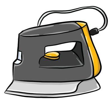 Old iron , illustration, vector on white background