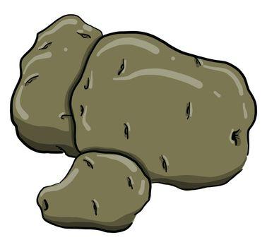 Potatoes , illustration, vector on white background