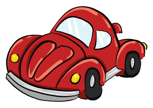 Red race car , illustration, vector on white background