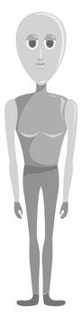 Humanoid robot , illustration, vector on white background