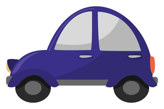 Small car , illustration, vector on white background