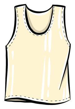 White shirt , illustration, vector on white background