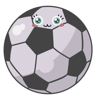 Football ball , illustration, vector on white background