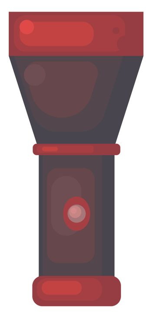 Red flashlight , illustration, vector on white background