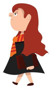 Hogwarts student , illustration, vector on white background