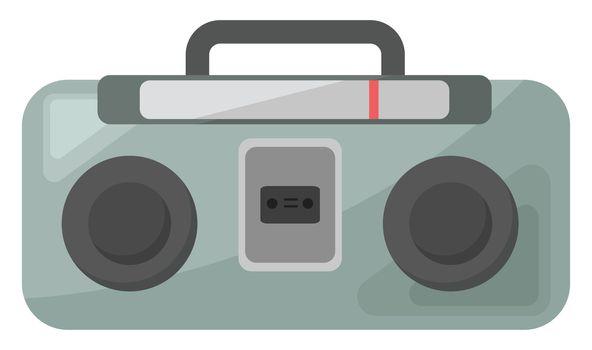 Old radio , illustration, vector on white background