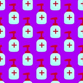 Hand gel pattern , illustration, vector on white background