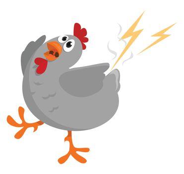 Thunder strike , illustration, vector on white background