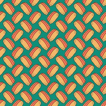 Sushi food pattern , illustration, vector on white background