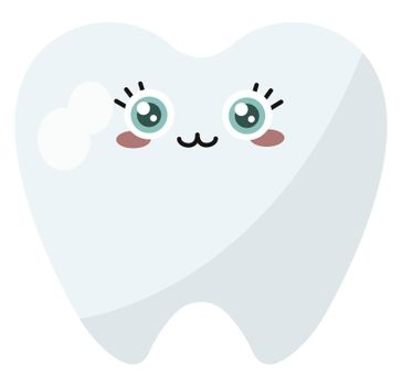 Cute tooth , illustration, vector on white background