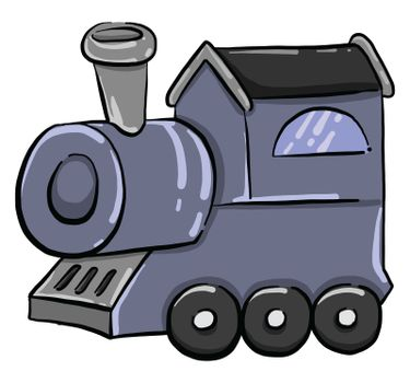 Train car , illustration, vector on white background