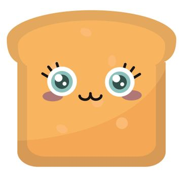 Cute toast , illustration, vector on white background