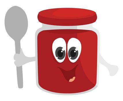 Tomato paste , illustration, vector on white background